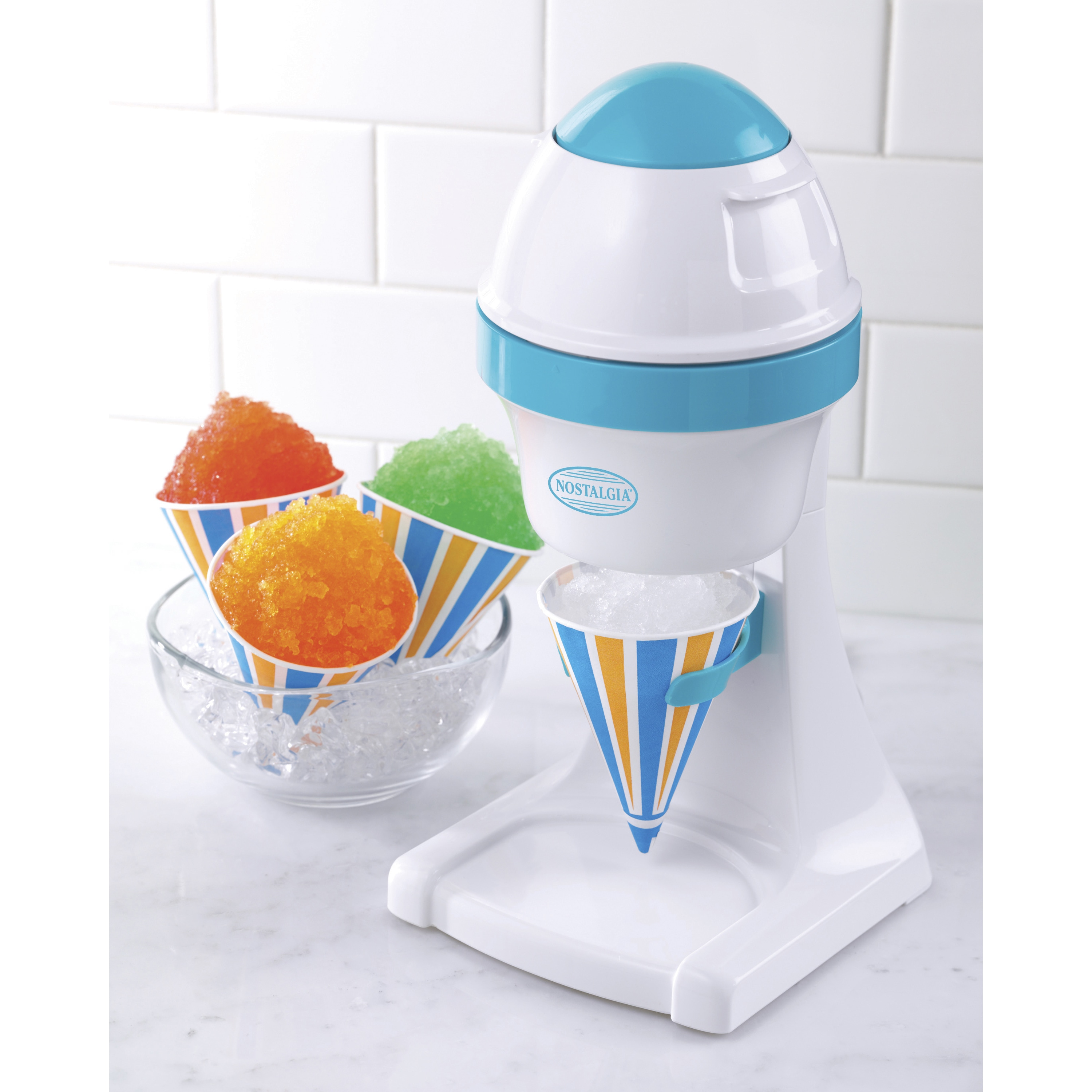 Nostalgia ISM1000 Electric Snow Cone Maker, Silver stainl...