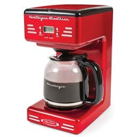 Nostalgia Retro Series Red 50's-style 12-cup Programmable Coffee Maker