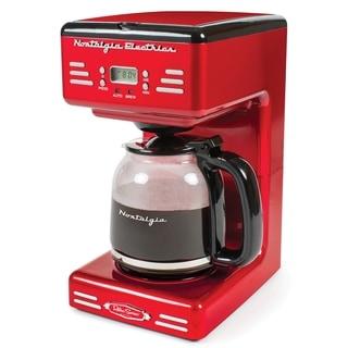 Nostalgia RCOF120 Retro 12 Cup Programmable Coffee Maker
