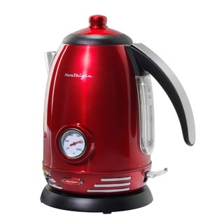 Nostalgia RWK150 Retro Series 1.7-liter Stainless Steel Electric Water Kettle with Strix Thermostat