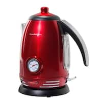 Nostalgia RWK150 Retro 1.7L Stainless Steel Electric Water Kettle