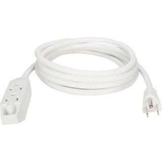 QVS 3-Outlet 3-Prong 10ft Power Extension Cord
