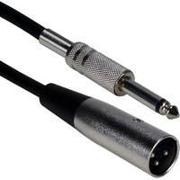QVS 10ft XLR Male to 1/4 Male Audio Cable