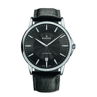 Edox Men's 56001 3 GIN Les Bemonts Analog Display Swiss Quartz Grey Watch