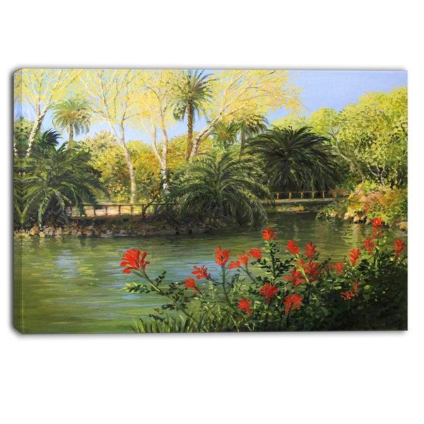 Garden Of Eden Landscape: Landscape Large Canvas