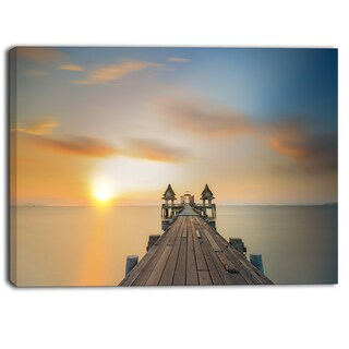 Designart - Infinity Bridge  Seascape Photography Canvas Art Print