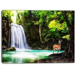Designart - Erawan Waterfall - Landscape Photo Canvas Art Print