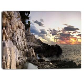 Designart - Adiratic Sunset - Landscape Photography Canvas Art Print