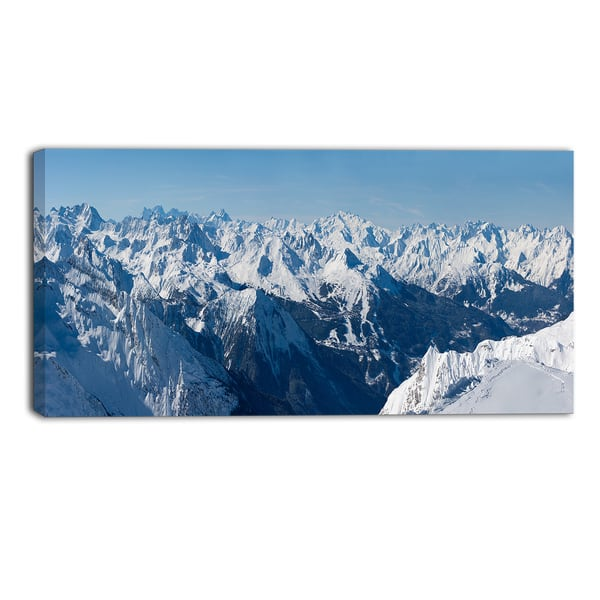 Designart French Alps Panorama Photography Canvas Art Print Blue Overstock 11357930