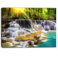 Designart - Kanchanaburi Province Waterfall  Photography Canvas Print