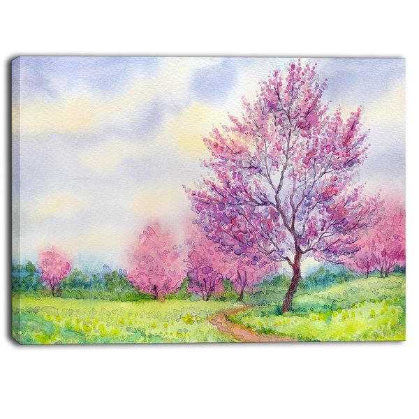 spring motif painting landscape - photo #24