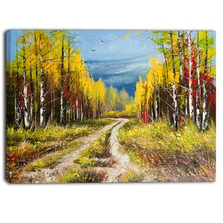 Designart - Golden Autumn - Landscape Canvas Art Print