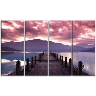 Designart - Beautiful Spring Sea at Morning - 4 Panels Photo Canvas Art Print