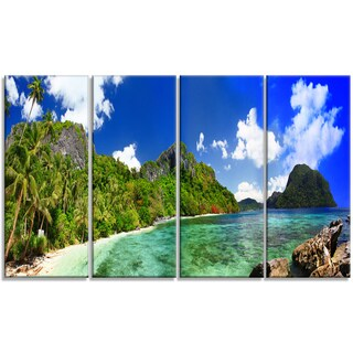 Designart - Tropical Scenery - 4 Panels Landscape Photography Canvas Print