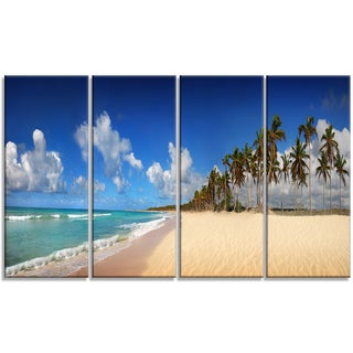 Designart - Tropical Exotic Beach - 4 Panels Landscape Photography Canvas Print