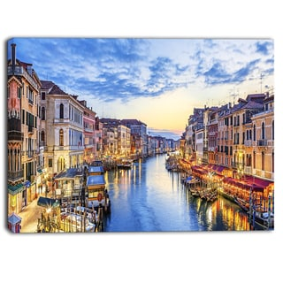 Designart - Grand Canal Panorama - Landscape Photo Canvas Print