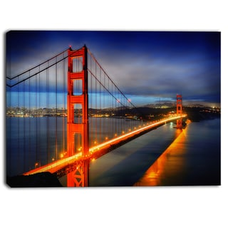 Designart - Golden Gate Bridge - Landscape Photo Canvas Print