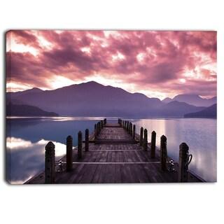 Designart - Beautiful Spring Sea at Morning  Photo Canvas Art Print