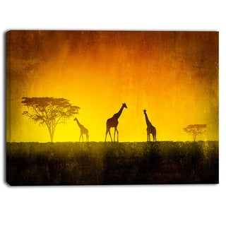 Designart - African Sunset Aura - Landscape Canvas Art Print