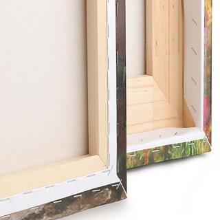 Designart - Wooden Pier - 4 Panels Landscape Photo Canvas Art Print