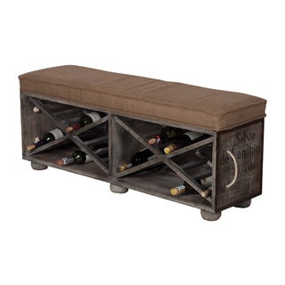Guildmaster Large Wine Crate Ottoman