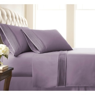Vilano 21-inch Extra Deep Pocket Pleated Sheet Set (California King - Lavender)