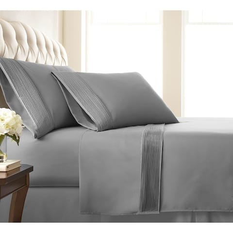 Vilano 21-inch Extra Deep Pocket Pleated Bed Sheet Set