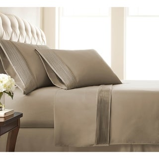 Vilano 21-inch Extra Deep Pocket Pleated Sheet Set (Twin Xl - Taupe)