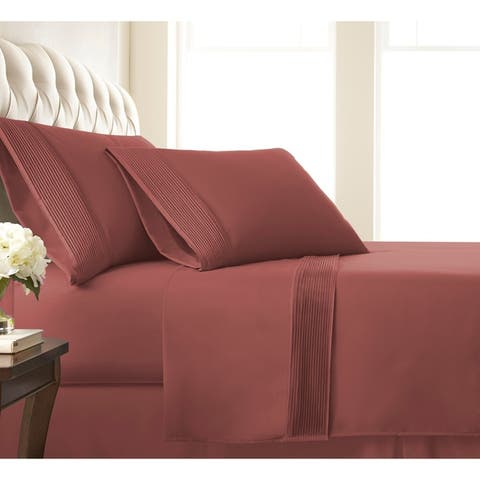 Vilano 21-inch Extra-deep Pocket Pleated Microfiber Bed Sheet Set
