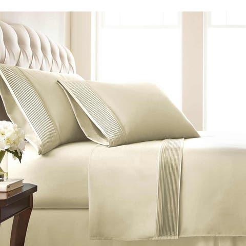 Vilano 21-inch Extra-deep Pocket Pleated Microfiber Bed Sheet Set