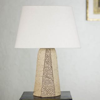 Handcrafted Ceramic 'Geometric Earth' Table Lamp (Mexico)