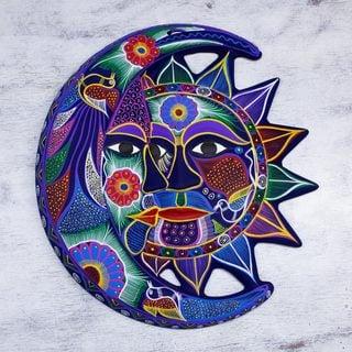 Handmade Ceramic 'Fantastical Eclipse' Wall Adornment (Mexico)