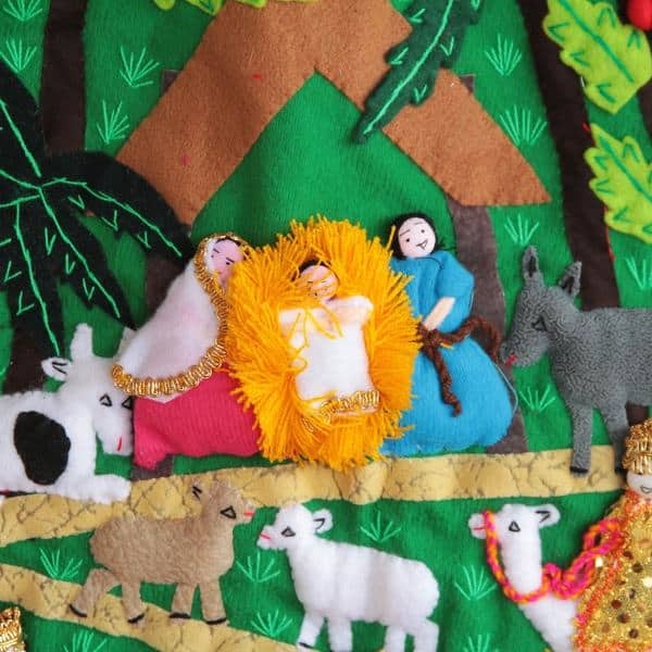 Handcrafted Applique Happy Nativity Scene Wall Hanging Peru Overstock 11359949