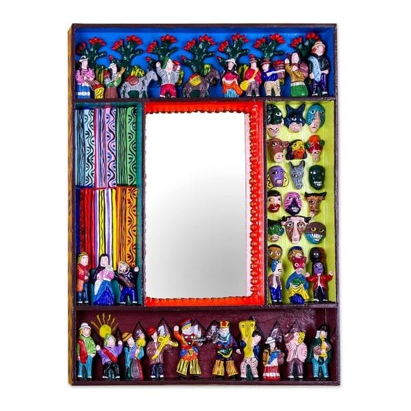 Ceramic Scenes from the Andes Mirror - Multi