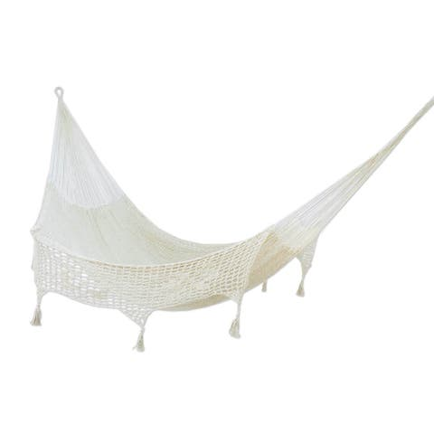 Handmade Cotton Caribbean Sands Double Hammock (Mexico)