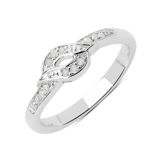 Olivia Leone 0.11 Carat Genuine White Diamond .925 Sterling Silver Ring