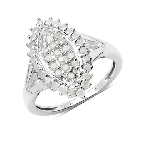 Olivia Leone 0.62 Carat Genuine White Diamond .925 Sterling Silver Ring