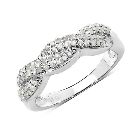 Olivia Leone 0.38 Carat Genuine White Diamond .925 Sterling Silver Ring