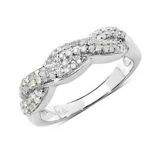 Olivia Leone 0.38 Carat Genuine White Diamond .925 Sterling Silver Ring
