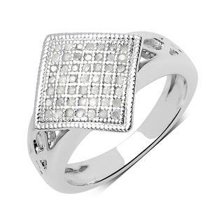 Olivia Leone 0.28 Carat Genuine White Diamond .925 Sterling Silver Ring