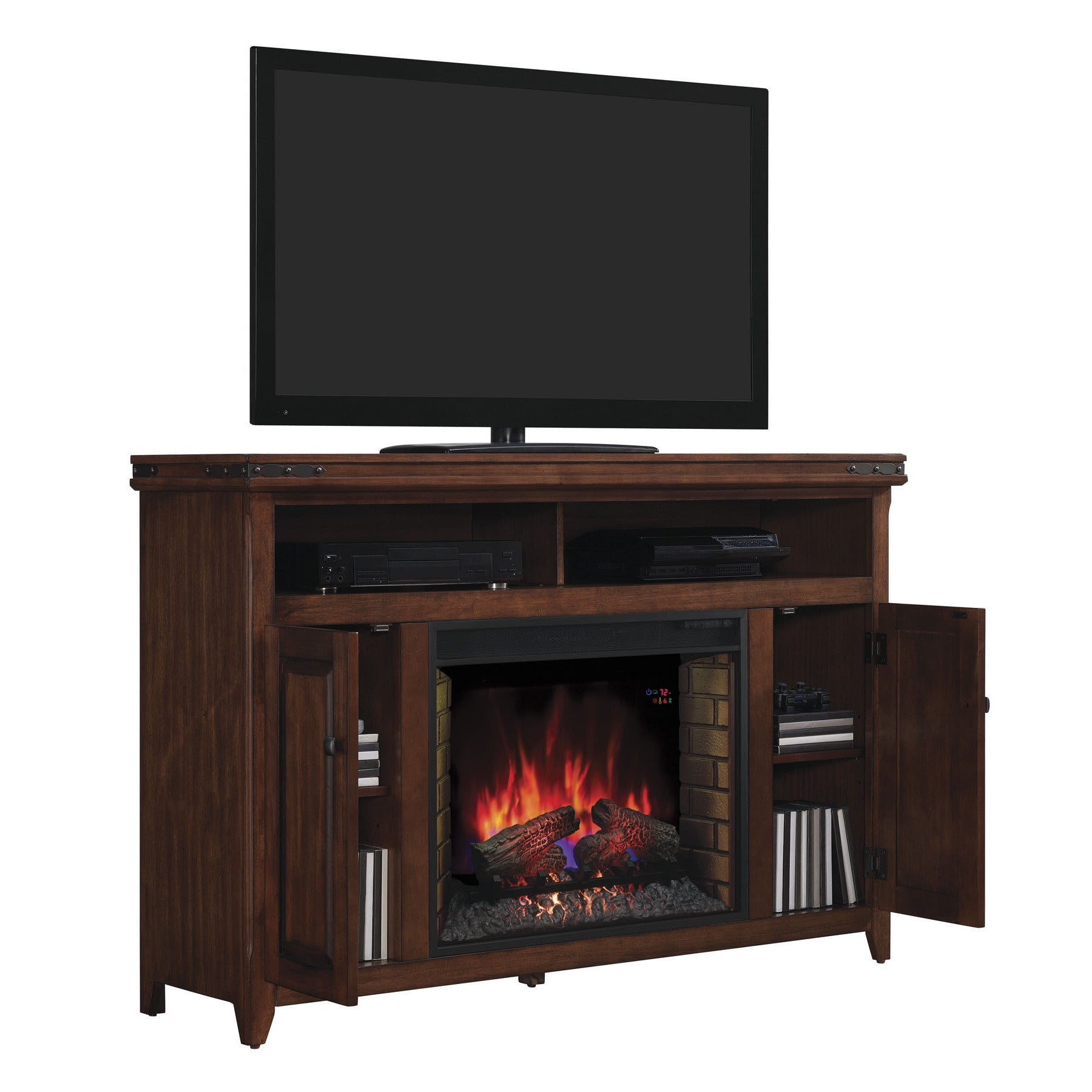 electric fireplace tv stand entertainment media center storage cabinet