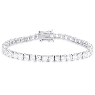 Dolce Giavonna Sterling Silver Cubic Zirconia Tennis Bracelet|https://ak1.ostkcdn.com/images/products/11364907/P18336014.jpg?impolicy=medium