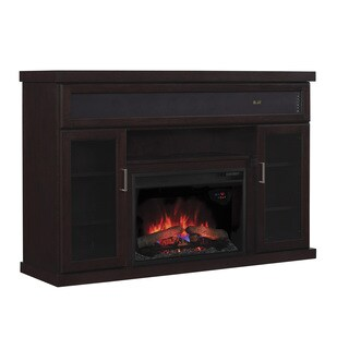 Tenor TV Stand with Speakers with 26-inch Contemporary Infrared Quartz Fireplace - Espresso