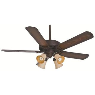Casablanca Fan Panama Gallery 54-inch Maiden Bronze (Damp Listed) with 5 Reclaimed Antique Blades
