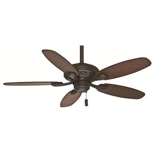Casablanca Fan Fordham 44-inch Brushed Cocoa with 5 Dark Walnut/Distressed Walnut Reversible Blades