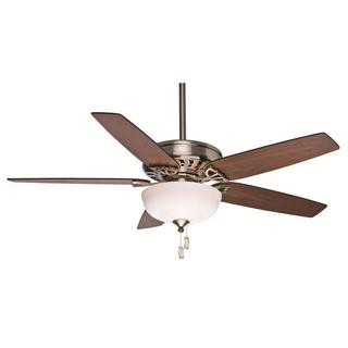 Casablanca Fan Concentra Gallery 54-inch Brushed Nickel with 5 Walnut/Burnt Walnut Reversible Blades