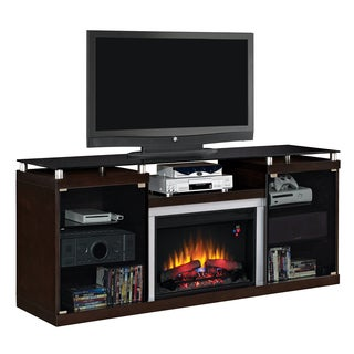 Albright TV Stand with 26-inch Electric Fireplace - Espresso