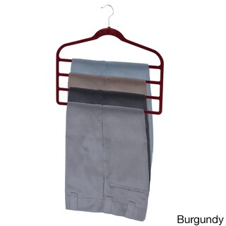 Sunbeam Burgundy Velvet Trouser Hanger (Pack of 3)