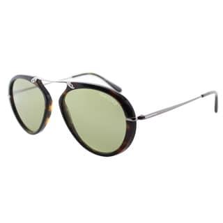Link to Tom Ford TF 473 Aaronn 52N Red Havana Green Gradient Aviator Sunglasses Similar Items in Women's Sunglasses