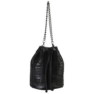 Rimen and Co. Genuine Leather Bucket Drawstring Closure Handbag (3 options available)